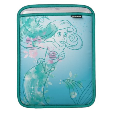 Disney Themed Ariel   Watercolor Outline Sleeve For iPads