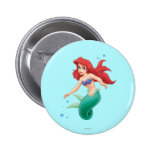 Ariel with Bubbles 2 Inch Round Button