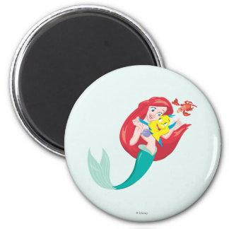 Ariel y amigos imán redondo 5 cm