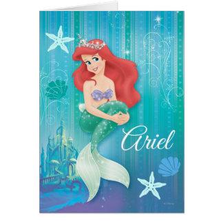 Ariel y castillo tarjeta de felicitación