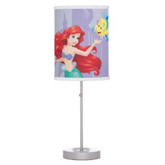 Ariel y platija lámpara de mesilla de noche