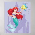 Ariel y platija póster