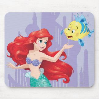 Ariel y platija tapetes de raton