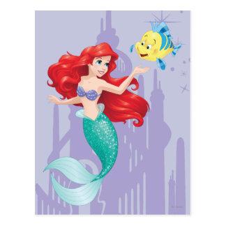 Ariel y platija tarjetas postales