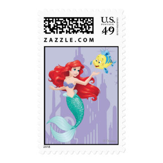 Ariel y platija timbre postal