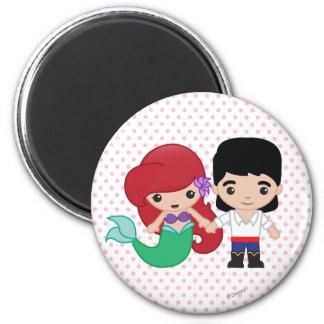 Ariel y príncipe Eric Emoji Imán Redondo 5 Cm
