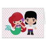 Ariel y príncipe Eric Emoji Tarjeta De Felicitación