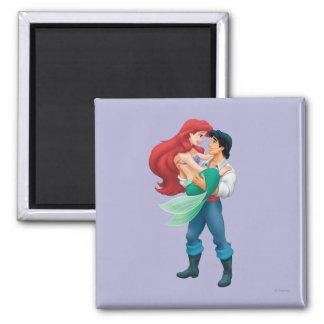 Ariel y príncipe Eric Imán Cuadrado