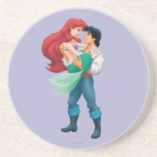 Ariel y príncipe Eric Posavasos Cerveza