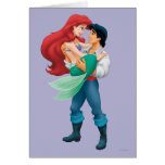 Ariel y príncipe Eric Tarjeta De Felicitación