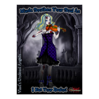 Ariel Zombie Violinist Poster