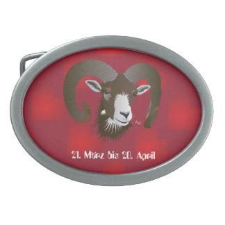 Aries 21. March to 20. Apri Gürtelschnalle Oval Belt Buckle