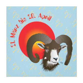 Aries 21. March until 20 April canvas