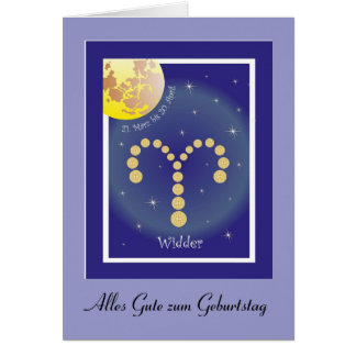 Aries 21. March until 20 April map Card