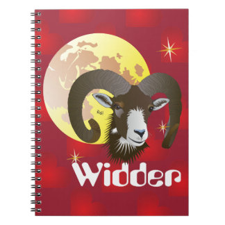 Aries 21. March until 20 April note booklet Notebook