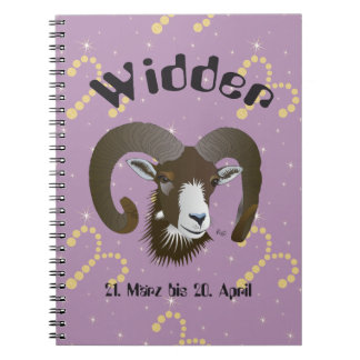 Aries 21. March until 20 April note booklet Spiral Notebook