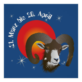 Aries 21. March until 20 April poster