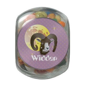 Aries 21. March until 20 April Snip Snap box Glass Jar