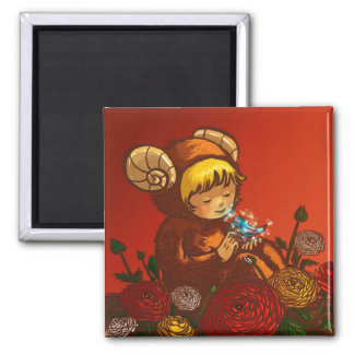 Aries 2 Inch Square Magnet