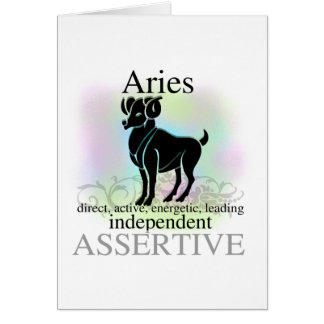Aries About You Greeting Card