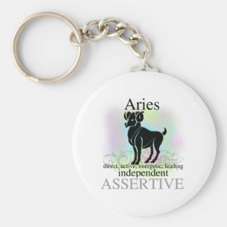 Aries About You Basic Round Button Keychain