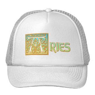 Aries adornado del azul y del oro gorras de camionero