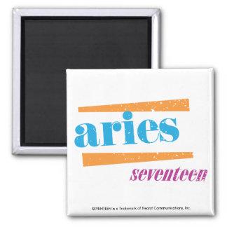 Aries Aqua 2 Inch Square Magnet