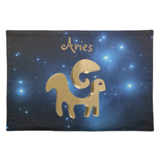 Aries ariete cloth placemat