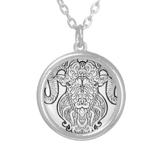 Aries Art Silver Plated Necklace