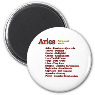 Aries Astrological Match The MUSEUM Zazzle Gifts 2 Inch Round Magnet