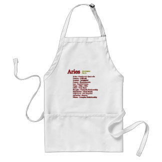 Aries Astrological Match The MUSEUM Zazzle Gifts Adult Apron