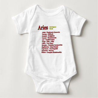 Aries Astrological Match The MUSEUM Zazzle Gifts Baby Bodysuit