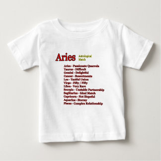 Aries Astrological Match The MUSEUM Zazzle Gifts Baby T-Shirt