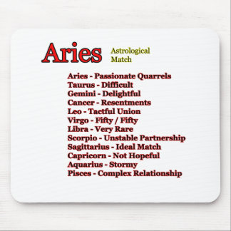 Aries Astrological Match The MUSEUM Zazzle Gifts Mouse Pad
