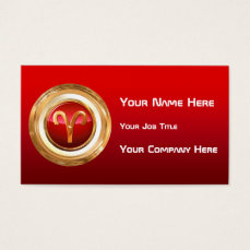 Aries Astrological Sign Business Card