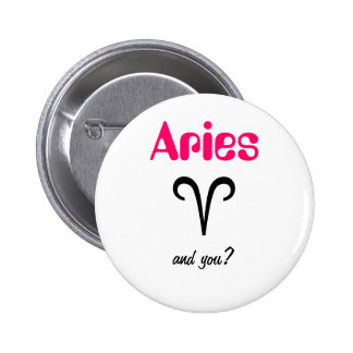 Aries Astrological Sign Button