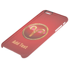 Aries Astrological Sign Clear iPhone 6 Plus Case
