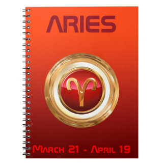 Aries Astrological Sign Notebook
