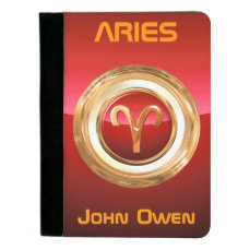 Aries Astrological Sign Padfolio