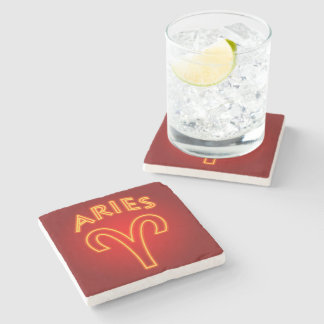 Aries Astrological Sign Stone Coaster