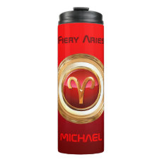 Aries Astrological Sign Thermal Tumbler