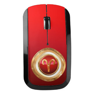 Aries Astrological Sign Wireless Mouse