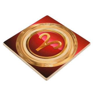 Aries Astrological Sign Wood Coaster