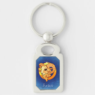 Aries Astrological Zodiac Sign Keychain