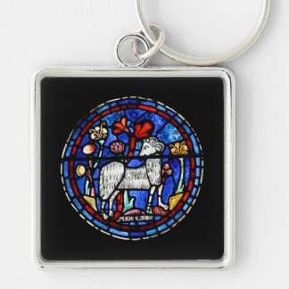 Aries - Astrology - Gothic Stained Glass Windows - Key Chain