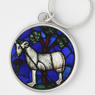 Aries - Astrology - Gothic Stained Glass Windows - Keychain