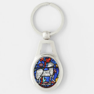 Aries - Astrology - Gothic Stained Glass Windows - Key Chains