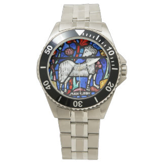 Aries - Astrology - Gothic Stained Glass Windows - Wristwatch