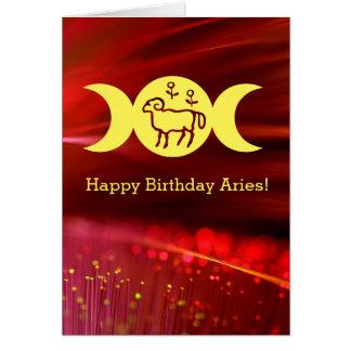Aries astrology sun sign birthday card fantasy