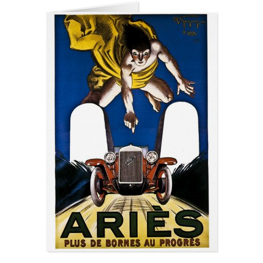 Aries Automobile - Vintage French Advertisement Cards